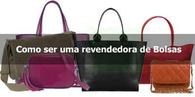 00fa17a1a Como ser uma revendedora de bolsas por catálogo ou atacado | Revendedora